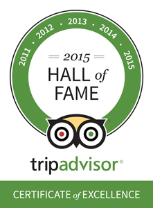 Little Inn TripAdvisor Hall of Fame 2015